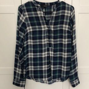 The Limited Plaid Blouse